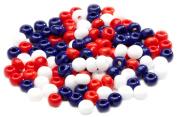 Beaders Paradise LT6E98 Czech Glass American Flag Mix 6/0 E-Beads in a Tube