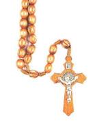 Rosarybeads4u St Saint Benedict Brown Wood Rosary Beads Rosaries