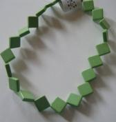 "Green Chalk Turquoise 16mm Diamond Beads - 13"""