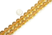 Varies Colour Round Citrine Beads Strand 38cm Jewellery Making Beads
