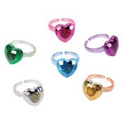 Metallic Heart Rings (3 dz)