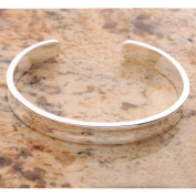 Charming 625 Sterling Silver Wide Open Bangle Bracelet 2