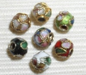 100 6mm Handmade Mix Cloisonne Beads By BriannaBeads