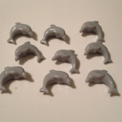 100 Dolphin Beads - Grey