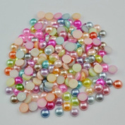 10,000pcs 4mm mixed colour Pack Half Round shape Flatback ABS pearl beads for nails/mobile beauty