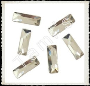 CRYSTAL CLEAR. FlatBack BAGUETTE 15X5mm