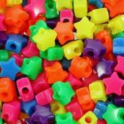 450 Multi-Coloured Neon Star Pony Beads