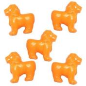 100 Lion Beads - Orange
