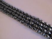 Hematite Skull 8*10mm 16'' Strand 40pcs Beads Dark Grey