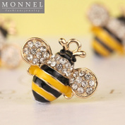 H290 Wholesale 3pcs Cute Crystal Bee Insect Charm Pendant