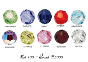 100 Wholesale High Quality Genuine EvesErose Czech Crystal Beads Size 4mm ROUND #5000 (10 Colours, 10 of Each) For. Crafting