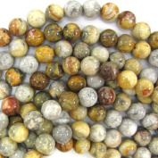 """10mm natural crazy lace agate round beads 16"""" strand"""