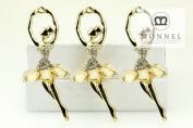H560 Wholesale 3pcs Cute Crystal Ballet Dancer Ballerina Charm Pendant