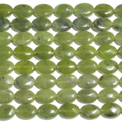 Jade 10X14mm Oval Beads 8 Inch Strand