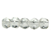 Mode Beads Czech Glass Fire Polished Beads, 300 Beads, Crystal