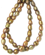 Bead Collection 40340 Fresh Water Pearl Amber Beads, 20cm
