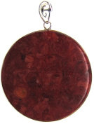 Bead Collection 41259 Round Coral Pendant, 50mm