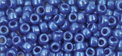 The Beadery 6 by 9mm Barrel Pony Bead in Dark Blue Pearl, 900-Piece