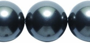 . Elements 12CR607 8-Pack Crystal Round Pearl Beads, 12mm, Black