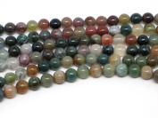 Bead Collection 40322 Semi Precious Fancy Agate Amber Beads, 18cm