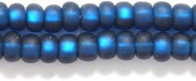 Preciosa Ornela Czech Matte Silver Lined Seed Bead, Montana Blue, Size 6/0