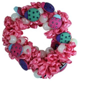 Hair Scrunchy UV Colour Changing! pink with Lady Bugs!