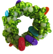 Hair Scrunchy UV Colour Changing! Green with Sandals!