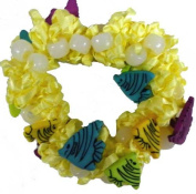 Hair Scrunchy UV Colour Changing! Yellow with Angel Fishes!