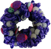 Hair Scrunchy UV Colour Changing! Purple with Lady Bugs!