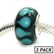 Coastal Collection Silver Glass Beads (3 Pack) - Raindrops on Roses