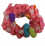 Hair Scrunchy Uv Colour Changing! Pink with Sandals!
