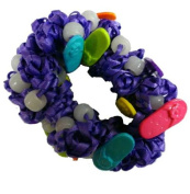 Hair Scrunchy UV Colour Changing! Purple with Sandals!