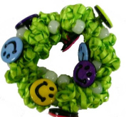 Hair Scrunchy UV Colour Changing! Green with Happy Faces!