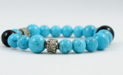 Handmade 8mm Beauty Turquoise Beads Bracelet