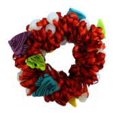 Hair Scrunchy UV Colour Changing! Red with Angel Fishes!