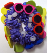 The Original Solaractive® UV Colour Changing Scrunchy! Purple with Sun Glass Designs!