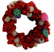 Hair Scrunchy UV Colour Changing! Red with Lady Bugs!