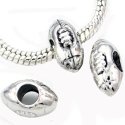 Add A Link Of Charm Football Pandora Style Bead
