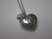"Initially Hers ""B"" Photo Locket Necklace"