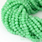 "1 Strand Green Chalcedony Micro Faceted Rondel 3-4mm 14"" Length Aaamazing Quality 100 Percent Natural.(rlgc-70002)GemMartUsa Gemstone"