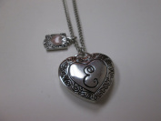 "Initially Hers ""E"" Photo Locket Necklace"