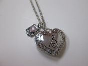 "Initially Hers ""S"" Photo Locket Necklace"