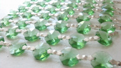 1 Yard Spring Green Chandelier Crystal Prism Chains