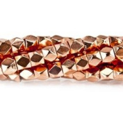 Copper Bead Faceted Nugget 4mm, Hand Polished