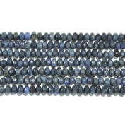 Dumorterite 8mm Faceted Rondelle Beads 8 Inch Strand