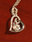 Sparkling Crystal Heart Necklace - crystal white colour by Ottavo