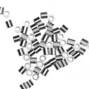 Crimp Tube Beads 1.5mm X 1.5mm USA Sterling Silver