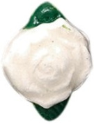 Shipwreck Peruvian Hand Crafted Ceramic Rose Tiny Beads, 10 by 12mm, White, 4 Per Pack