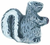Shipwreck Peruvian Hand Crafted Ceramic Squirrel Beads, 11 by 12mm, Grey, 4 Per Pack