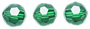 . Elements 10-Pack Faceted Round Beads, Transparent Finish, 6mm, Emerald